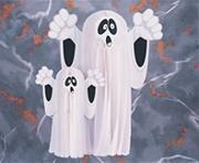 Large Hanging Tissue Ghost  (pack of 4)