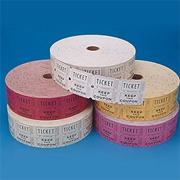 Double Roll Tickets - Assorted Colors  (roll of 2000)