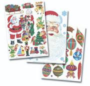 Christmas Clings (pack of 6)