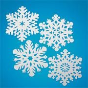 14.4&quot; White Snowflakes  (pack of 24)