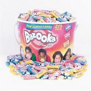 Bazooka Assorted Flavor Bubble Gum  (tub of 275)
