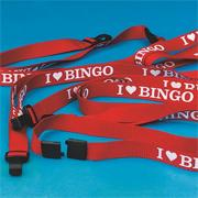 &quot;I Love Bingo&quot; Lanyards (pack of 12)