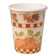 Homespun Harvest Cups 9 oz. (pack of 8)