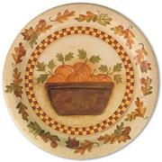 Homespun Harvest Dinner Plates (pack of 8)