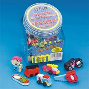 Action Erasers (set of 25)