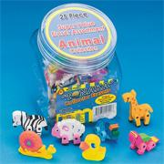 Animal Erasers (set of 25)