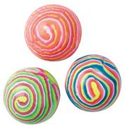 Neon Stripe Hi-Bounce Balls (pack of 12)