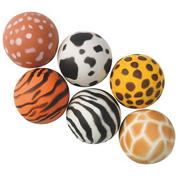 Animal Prints Hi-Bounce Balls (pack of 12)