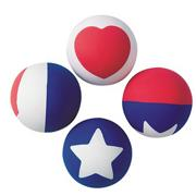 Patriotic Hi-Bounce Balls (pack of 12)