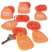 Bingo or Bust Coil Wrist Bracelet w/ Key Tag (pack of 12)