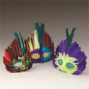 Assorted Feather Masks (pack of 12)