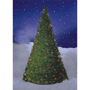 Pull-Up Christmas Berry Tree w/ Lights, 6'