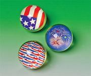 Patriotic High-Bounce Balls  (pack of 12)