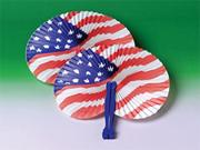 USA Fans  (pack of 12)