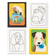 Sand Art Boards 5&quot;x7&quot; - Dogs &amp; Cats  (pack of 12)