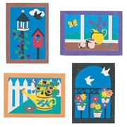 Sand Art Boards 5&quot;x7&quot; - Garden  (pack of 12)