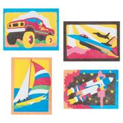 Sand Art Boards 5&quot;x7&quot; - Gettin&#039; There  (pack of 12)