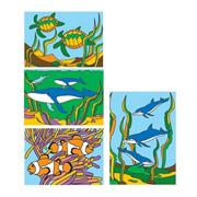 Sand Art Boards 5&quot;x7&quot; - Sea Life  (pack of 12)