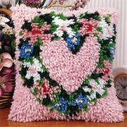 Latch Hook Kit, 12x12 - Heart Wreath