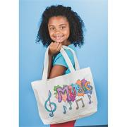 Color-Me Canvas Tote with Gusset