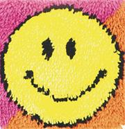 Latch Hook Kit, 12x12 - Smiley Face