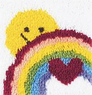 Latch Hook Kit, 12x12 - Sunshine Rainbow