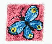Latch Hook Kit, 12x12 - Butterfly