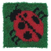 Latch Hook Kit, 12x12 - Ladybug