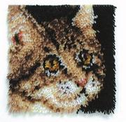 Latch Hook Kit, 12x12 - Tabby