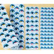 Peel 'n Stick Wiggly Eyes Painted  (set of 500)