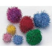 Pom Poms 1/2&quot; - Glitter  (pack of 80)