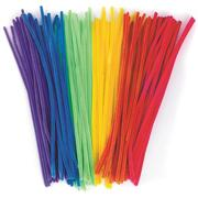 Chenille Stems 12&quot;x6mm - Neon Colors  (pack of 100)