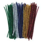 Chenille Stems 12&quot;x6mm - Sparkle  (pack of 100)