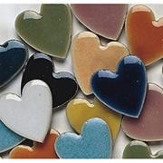 1&quot; Heart Shaped Tile, 1-lb.  (bag of 100)