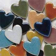 "1"" Heart Shaped Tile 10-lb.  (bag of 1000)"