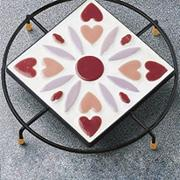 Round Trivet with 4&quot; Square Insert (pack of 12)