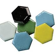 1&quot; Mosaic Tile Shapes - Hexagon, 5-lb.  (bag of 320)