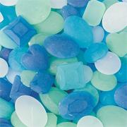 Sea Glass Mosaic Pieces 1/2-lb (bag of 200)
