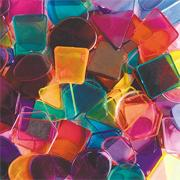 "Assorted Large Plastic Mosaic Pieces, 3/4""-1"" (bag of 342)"