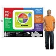 MyPlate Jumbo Fabric Banner