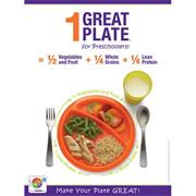1 Great Plate� for Preschoolers Nutrition Poster