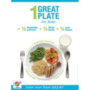 1 Great Plate for Kids Nutrition Poster