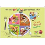 Kids MyPlate Fabric Banner