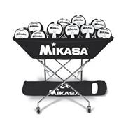 Mikasa VQ2000 Black/White Volleyballs with Cart Pack
