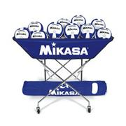 Mikasa VQ2000 Blue/White Volleyballs with Cart Pack