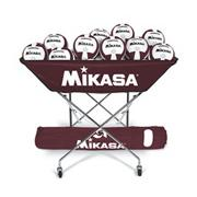 Mikasa VQ2000 Maroon/White Volleyballs with Cart Pack