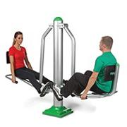 Dual Leg Press Outdoor Exercise Station