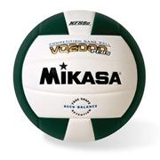 Mikasa� Competition Volleyball, Green/White