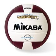 Mikasa� Competition Volleyball, Maroon/White