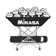 MikasaHammock-Style Volleyball Cart, Black